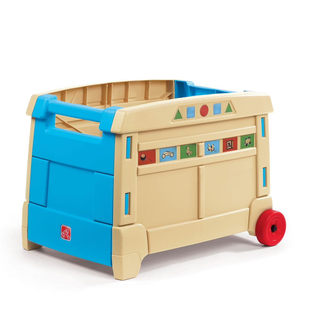Colorful plastic toy box