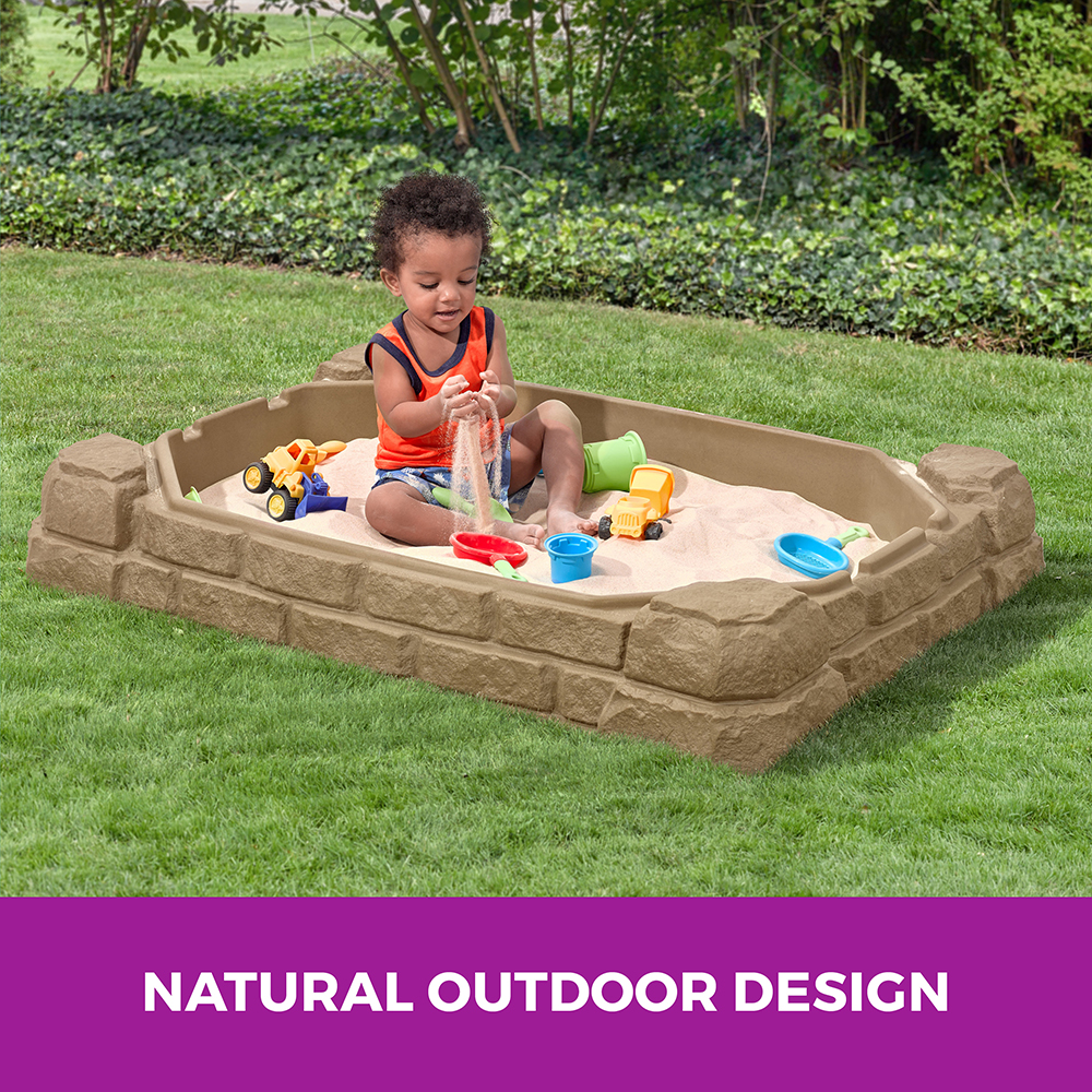 durable tan sandbox
