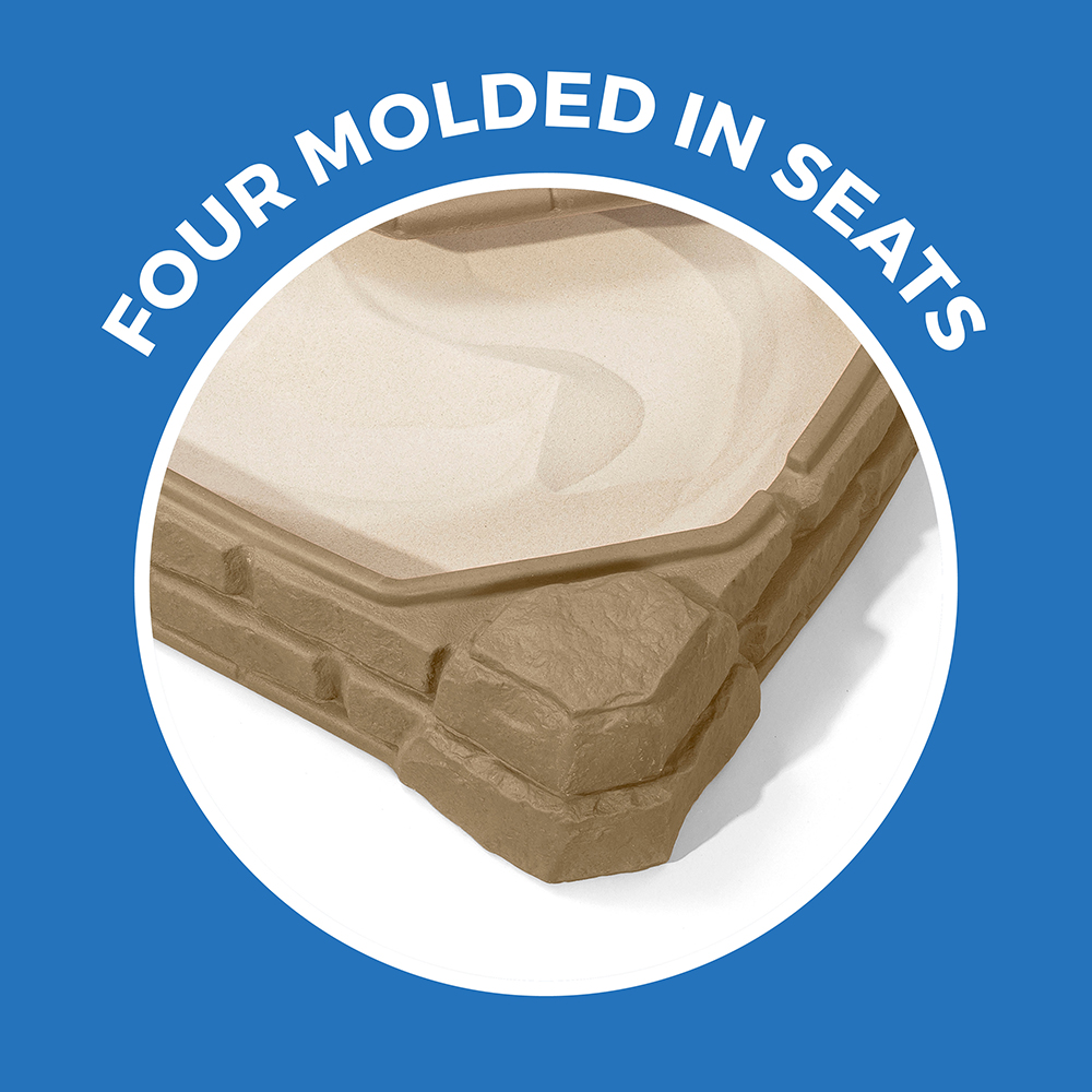 lid keeps sand safe for outside elements