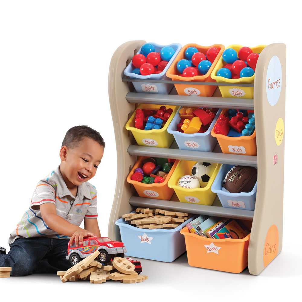 Fun Time Toys : Fun time room organizer kids toy storage step