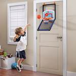 mini basketball set on door
