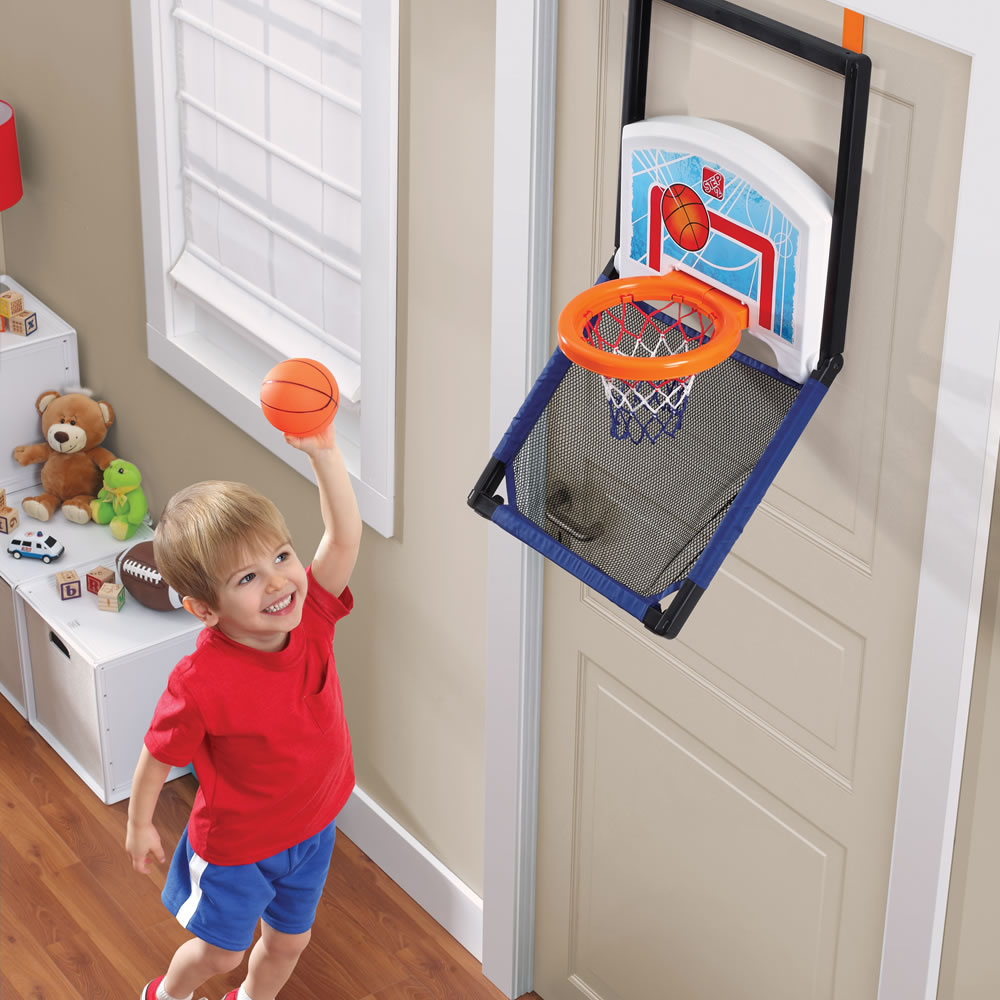 Floor to Door Basketball™ on floor