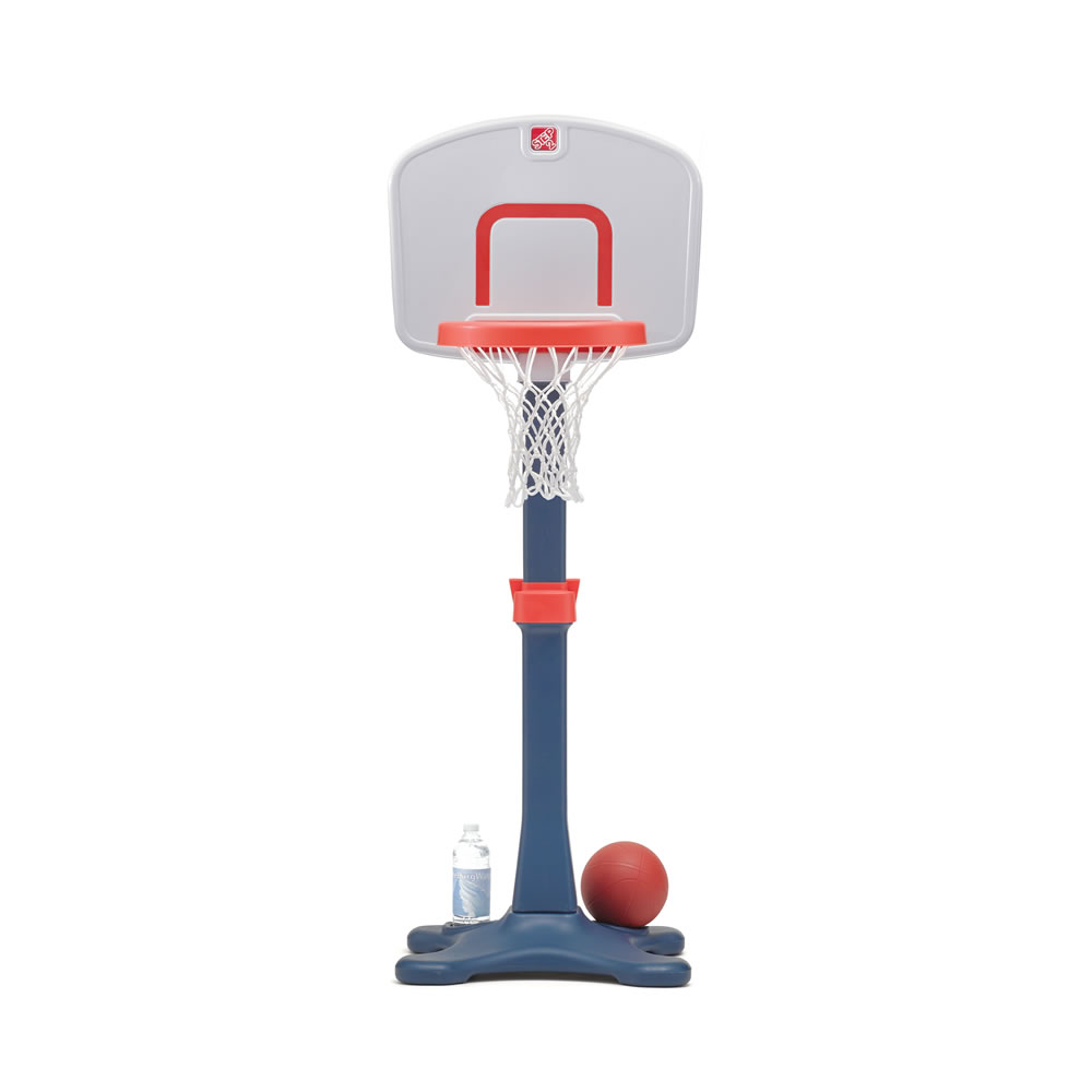 Adjustable basketball hoop height