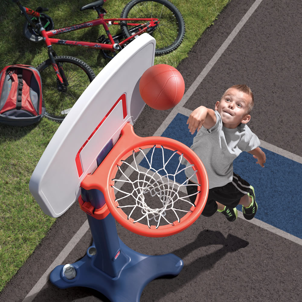Basketball hoop grows with child