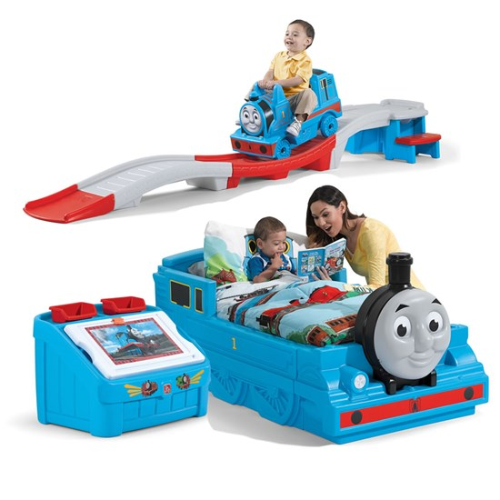 Thomas the tank engine bedroom combo kids bedroom set step2 for Toddler train bedroom
