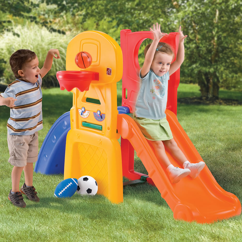 Children on the compact outdoor climber