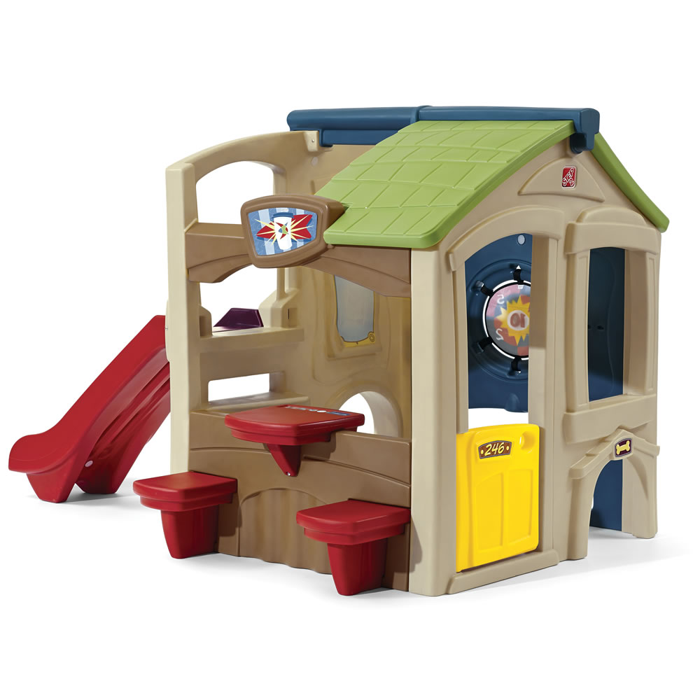 Neighborhood fun center kids playhouse step2 for Casas de juguete para jardin