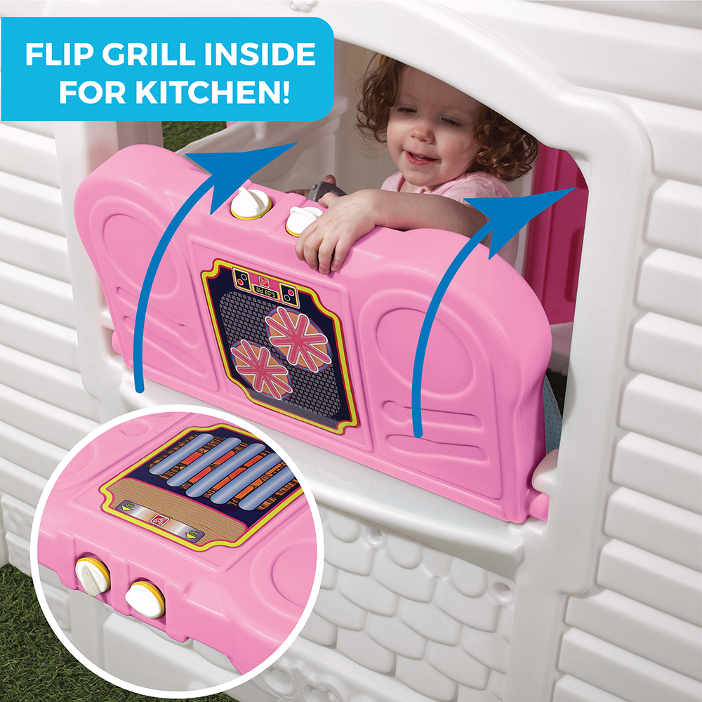 Includes life-like playhouse decals