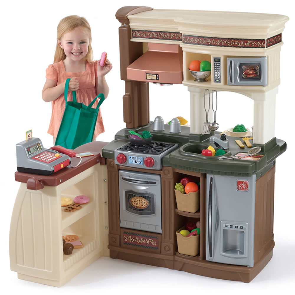 market and play kitchen attached