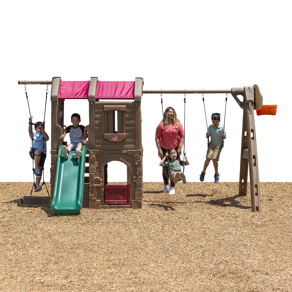 Naturally Playful® Adventure Lodge Play Center Swing Set