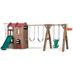 Adventure Lodge Play Center with Glider outdoor swingset for kids