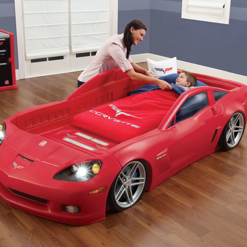 Step2 Corvette Toddler to Twin Bed with Light Crib Matress