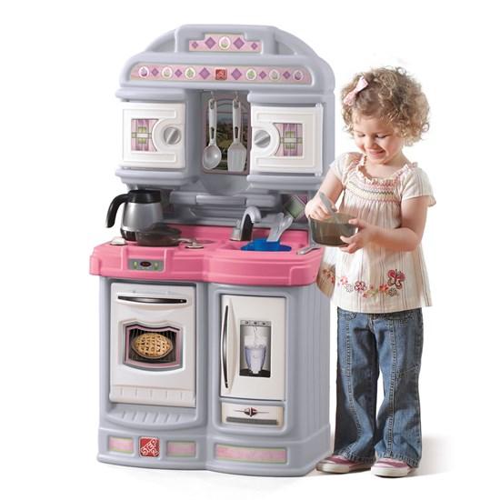 Cozy Kitchen Pink Kids Play Kitchen Step2