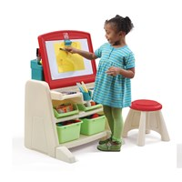 Flip & Doodle Easel Desk with Stool™ - Teal & Lime
