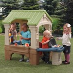 Kids playhouse with grill