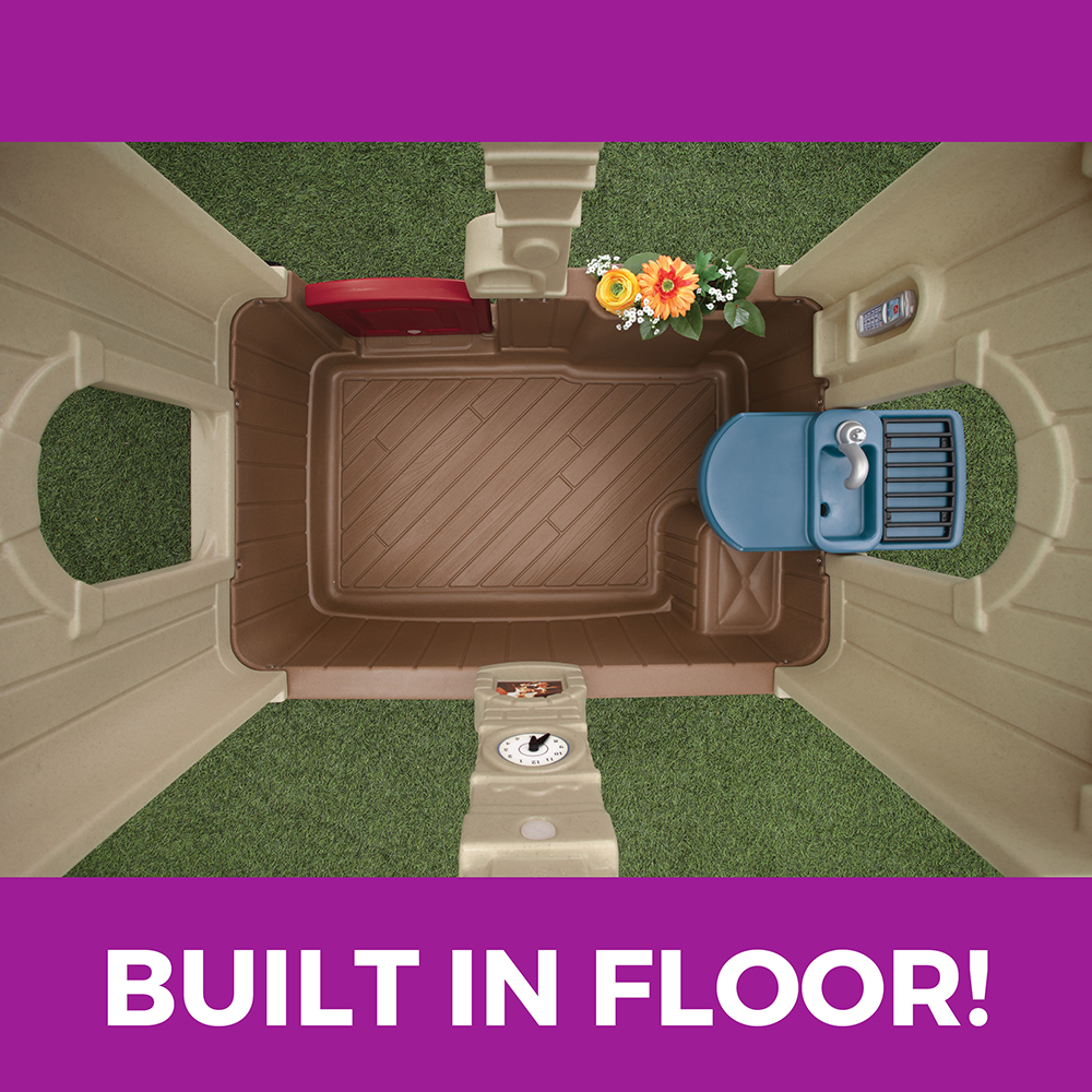 Molded-in playhouse floor