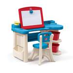 Studio Art Desk™ - Turquoise and Red