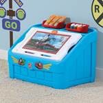 train toy chest in room