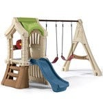 Play Up Gym Set™ - Green Roof with Blue Slide