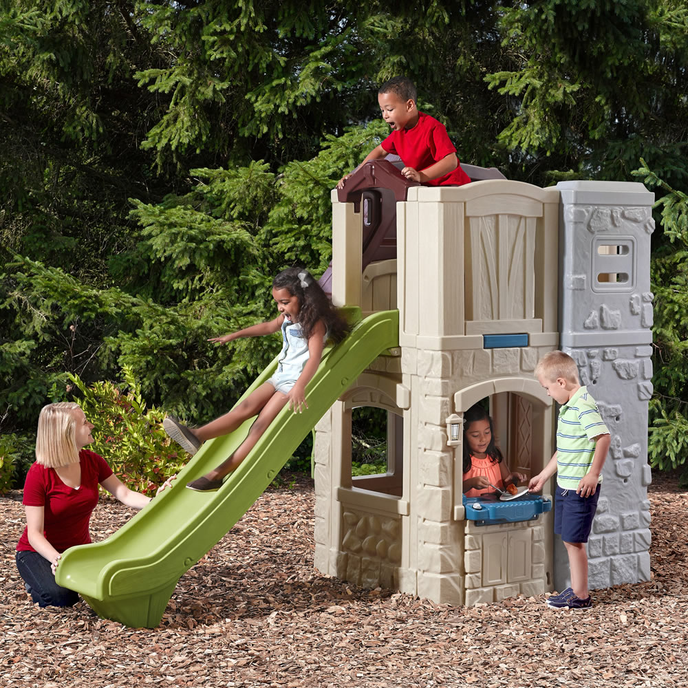 step2 daily deal 2 story playhouse slide