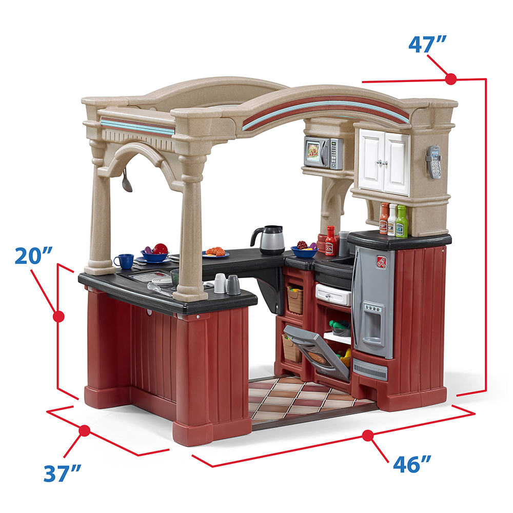 Plastic Play Kitchen Step 2 step2 grand walk in kitchen grand walk in kitchen with extra play