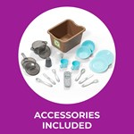 Accessories of kids play kitchen