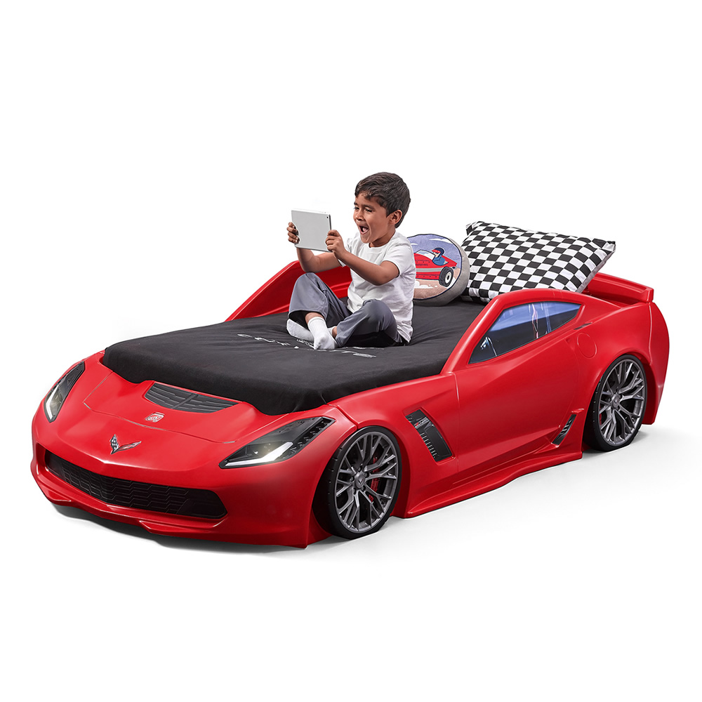 corvette z06 toddler to twin bed kids beds step2