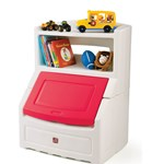 Lift & Hide Bookcase Storage Chest™ - Red