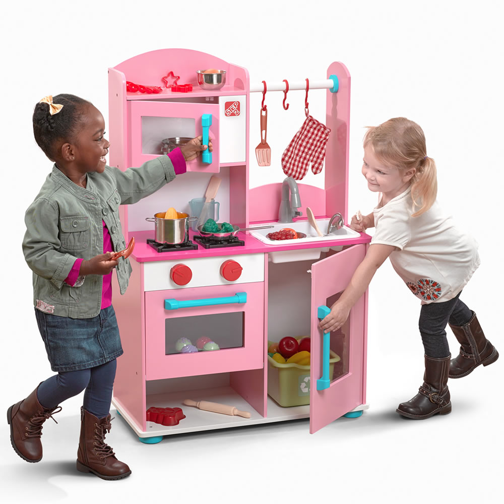 midtown modern wood kitchen™  pink  play kitchens  step2