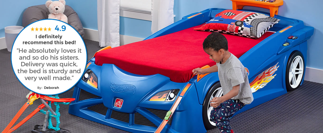 Hot Wheels™ Toddler-to-Twin Race Car Bed