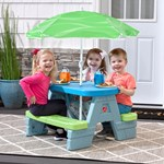 step2 Sun & Shade Picnic Table With Umbrella