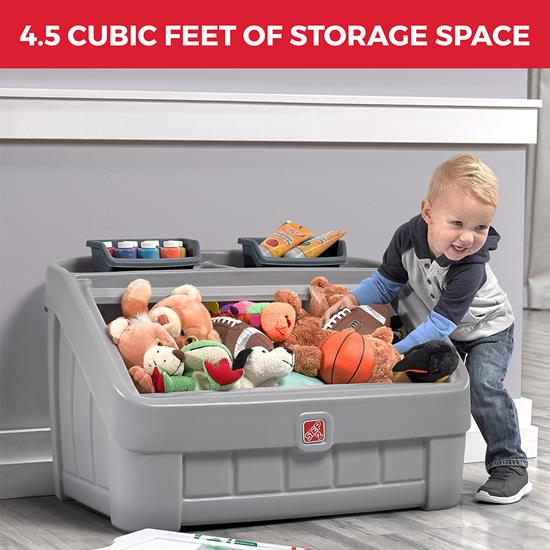 Step2 2-in-1 Toy Box & Art Lid - Gray storage