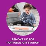 Step2 2-in-1 Toy Box & Art Lid - Gray art surface