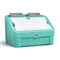 2-in-1 Toy Box & Art Lid™ - Mint