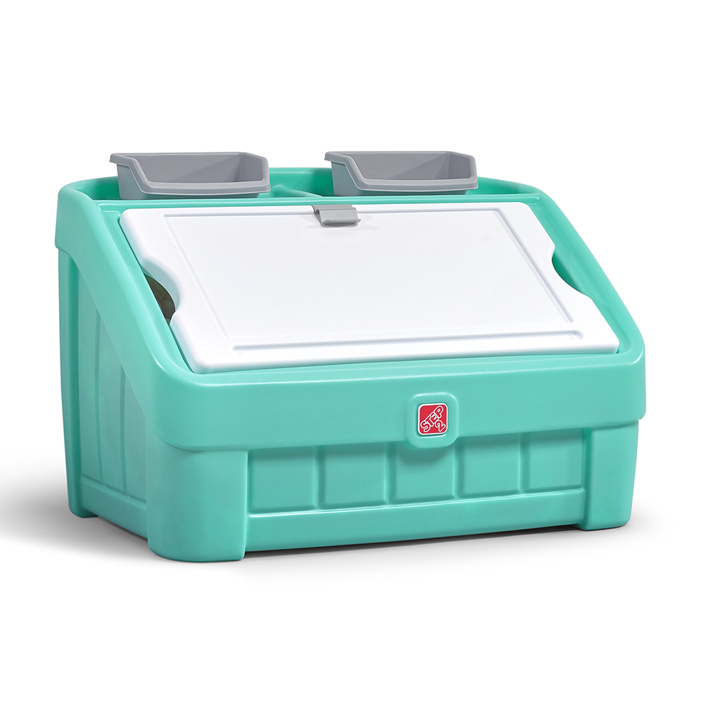 2-in-1 Toy Box u0026&; Art Lid™ - Mint  sc 1 st  Step2 & Toy Boxes Toy Chests Organizers and Storage Bins | Step2