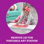 Step2 2-in-1 Toy Box & Art Lid - Mint art station