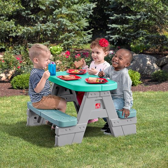 Step2 Sit & Snack Picnic Table outdoors