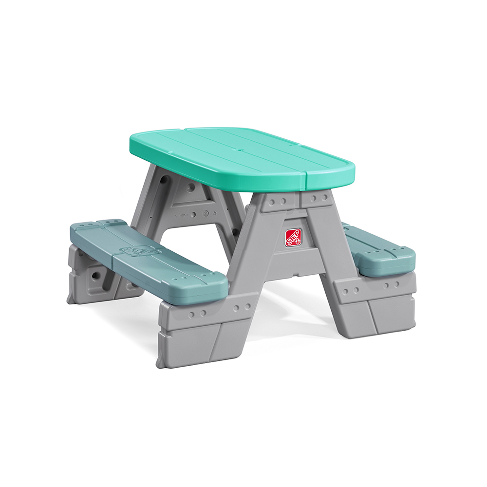 Sit Snack Picnic Table Kids Picnic Table Step - Teal picnic table
