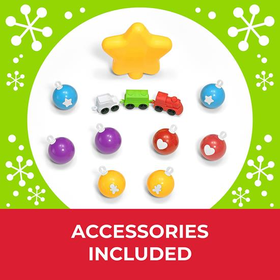 Step2 My First Christmas Tree accessory pack includes light-up star, 8 ornaments and mini-train