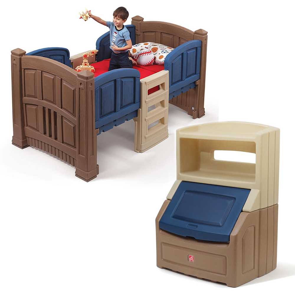 boy s loft storage bedroom set step2 17528 | 487000 001