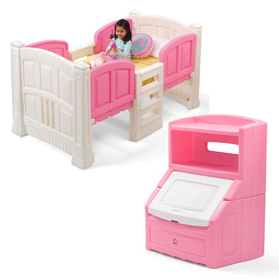 Step2 Girl's Loft & Storage Bedroom Set