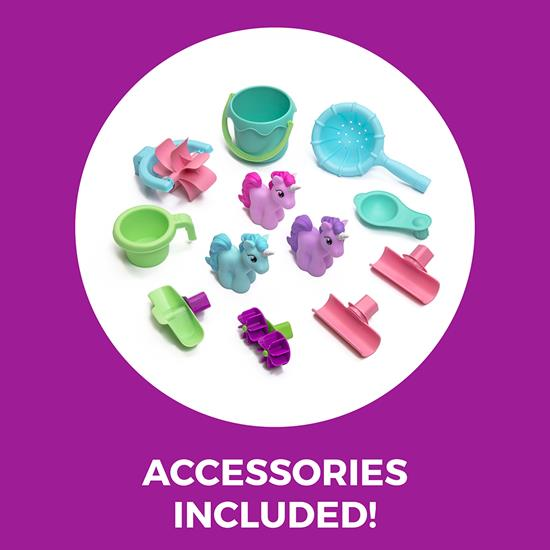 accessories included in step2 Rain Showers & Unicorns Water Table