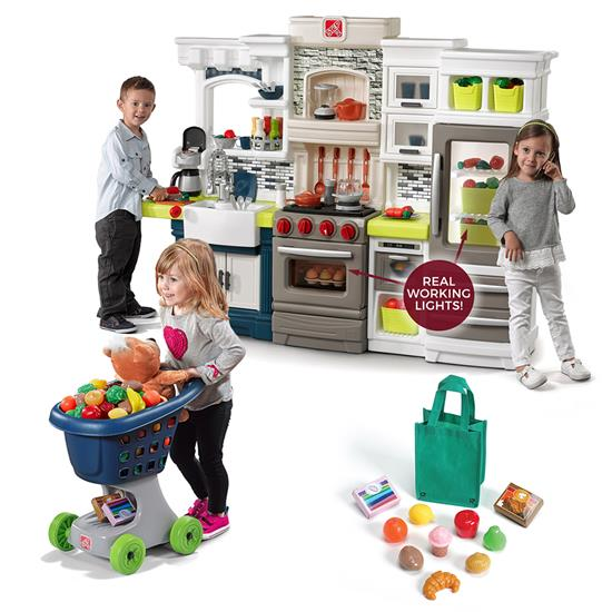 step2 shop and cook kitchen play set