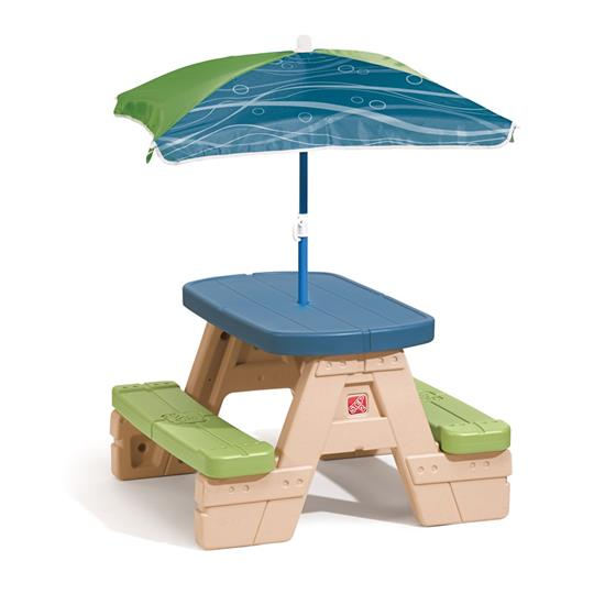 Step2 Sit and Splash Play Set Sit & Play Table With Umbrella