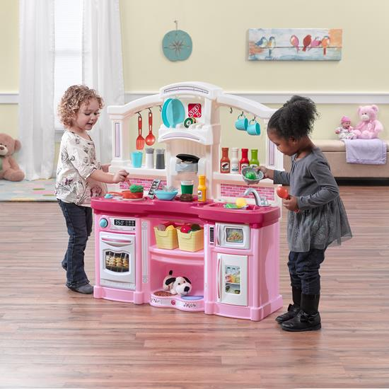fun with friends kitchen pink  kids play kitchen  step2