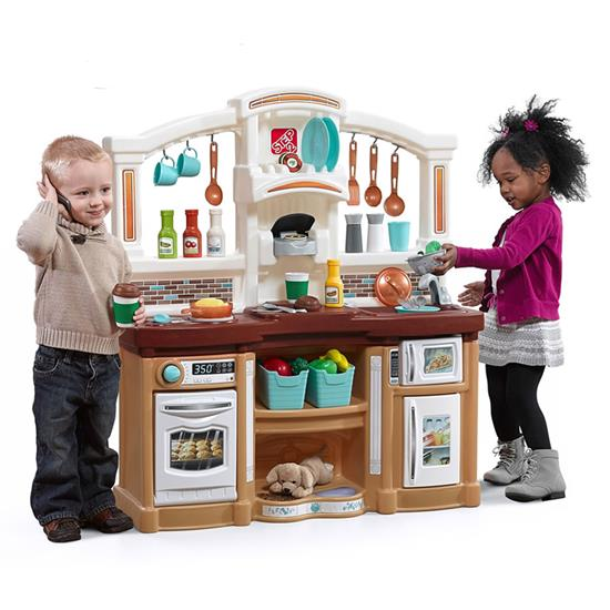 Step2 Fun With Friends Kitchen - Tan interactive stovetop