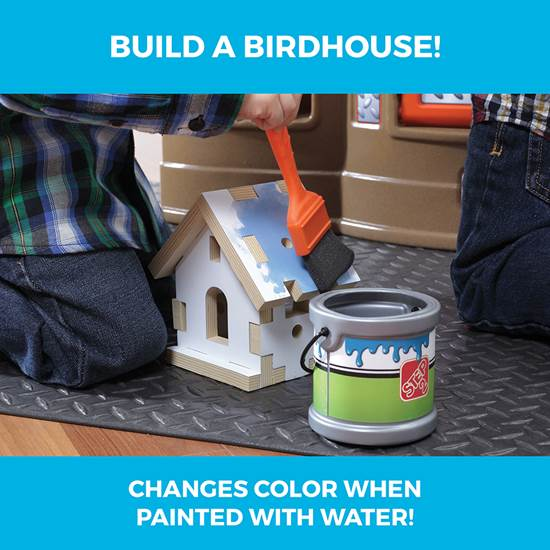 Step2 Big Builders Pro Workshop color changing bird house