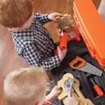 Step2 Handyman Workbench - Orange kids using play tools