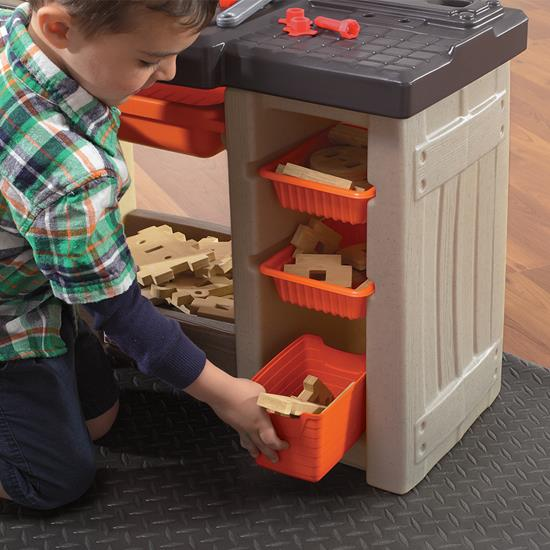 Step2 Handyman Workbench - Orange storage bins