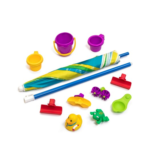 accessories included in step2 Rainy Day Water Table With Umbrella